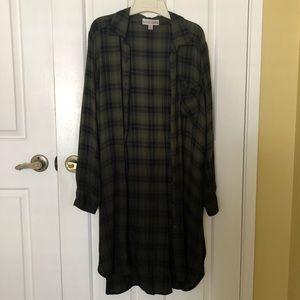 Ombré olive green flannel BOGO FREE!!